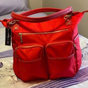 Olivia & Joy Zoom Lipstick Red Tote Bag.